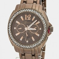 CRYSTAL BEZEL WATCH