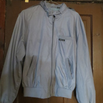 80s members only grey  jacket vintage jacket cafe racer mens size  38