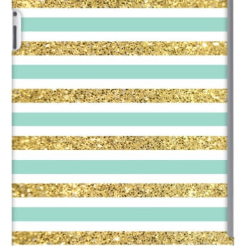 Gold and Tiffany Personalized iPad 2, 3 & Retina Slim Case