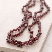 Garnet Gemstone Nugget Necklace