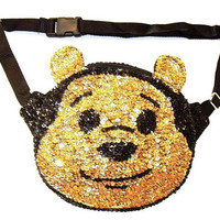 Sequin Cute Animal Fanny Pack BEAR