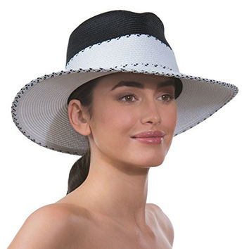 Eric Javits Women's Headwear Georgia Hat (White/Black)