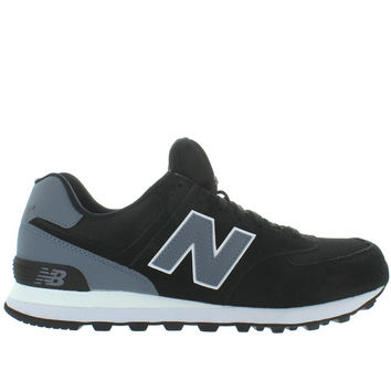 New Balance 574 - Black Suede/Mesh Classic Running Sneaker