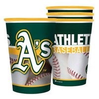 MLB Oakland Athletics Souvenir Cups (4-Pack), 22-Ounce