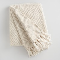 Ivory Geo Chenille Throw
