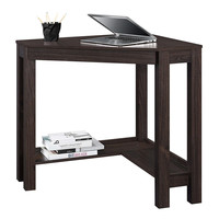 Espresso Corner Desk Home Office Laptop Writing Table With Drawer
