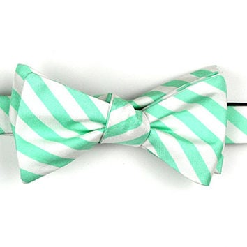 Seafoam/White Stripe Bow