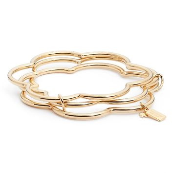 kate spade new york scrunched scallop stackable bracelet | Nordstrom
