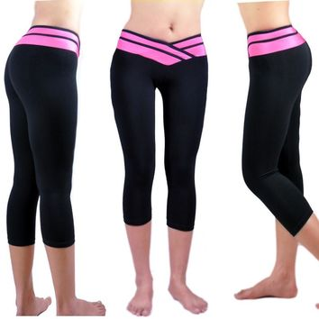 Alexa Yoga Active Fitness Gym Workout Capri Leggings