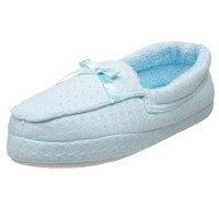 MUK LUKS Women`s I Luv Planet Earth Waffle Slipper,Blueberry,Small (US Women`s 5-6 M)