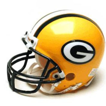 Green Bay Packers Miniature Replica NFL Helmet w-Z2B Mask