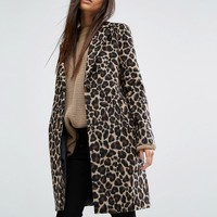 River Island Leopard Coat at asos.com