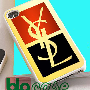 Ysl Yves Saint Laurent Logo For Iphone 4/4s, iPhone 5/5s, iPhone 5C, iphone 6, and iPhone 6 Plus Case