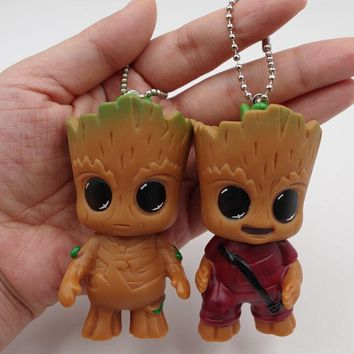 New Cute Movie Guardians Of The Galaxy Mini Baby Tree Model Action And Toy Figures Cartoon Pendant Dolls Toy Best Gifts For Gift