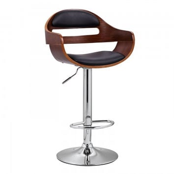 Joveco 360 Degree Swivel Adjustable Modern Leather Wood Bar Counter Stool