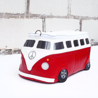 Volkswagen Bag Small Size Leather VW Bus Purse