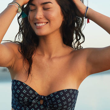 Aerie Strapless Lightly Lined Bikini Top , Basic Navy