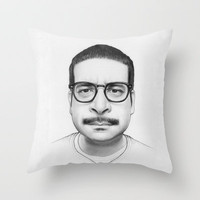 Montez Walker (Workaholics) Portrait Throw Pillow by Olechka
