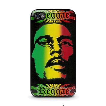 bob marley rasta iphone 4 4s case cover  number 1