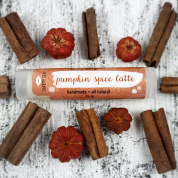 Pumpkin Spice Latte Lip Balm . Natural Lip Balm . Pumpkin Spice Latte . Pumpkin . Coffee . Lip Butter