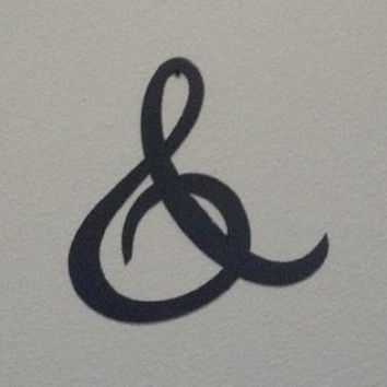 "Ampersand ""And"" ""&"" Sign 6 Inch (6"") Metal Wall Art Home Decor"