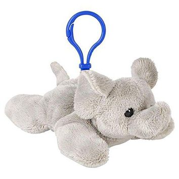 Wildlife Tree Elephant Plush 3.5 Inch Stuffed Animal Backpack Clip Toy Keychain Wildlife Hanger Party Favor Pack of 12