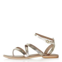 HERCULES Strappy Sandals - Gold