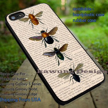 Vintage Insects Entomology iPhone 6s 6 6s+ 5c 5s Cases Samsung Galaxy s5 s6 Edge+ NOTE 5 4 3 #art dt