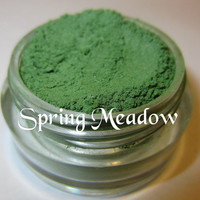 Limited Edition Spring Meadow Green Mineral Eyeshadow Mica Pigment 5 Grams Lumikki Cosmetics