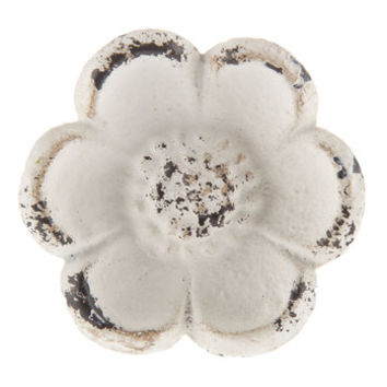 Distressed White Flower Metal Knob | Hobby Lobby | 1490002