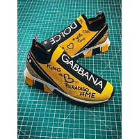Dolce £¦ Gabbana 2018 D £¦ G Sorrento Yellow Sport Shoes - Sale
