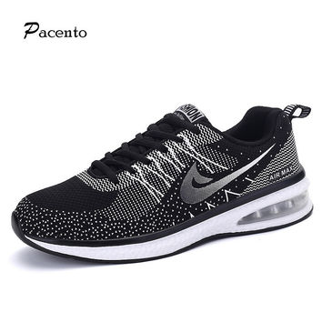2016 PACENTO Couple Women Men shoes Sport Flat Hot Shoe Casual Trainers Platform Flat Lightweight Gym Tenis Zapatillas Size35-44
