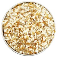 Light Gold Heart Edible Glitter