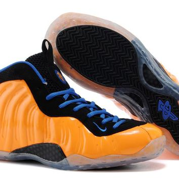 Nike Air Foamposite One Orange/Black/Blue Sneaker Size US8-13
