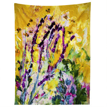 Ginette Fine Art Lavender and Bees Provence Tapestry