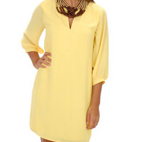 Classic Tunic Dress, Yellow :: NEW ARRIVALS :: The Blue Door Boutique