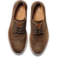 Chocolate Aviator Twill Men's Brogues