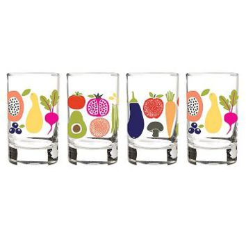 Farmers Market Juice Glasses