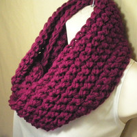 Boysenberry Purple Cowl Infinity Circle Scarf Neckwarmer