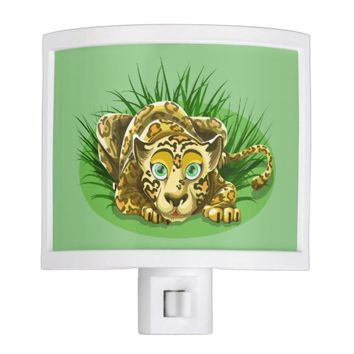 beautiful cartooned leopard night light