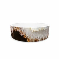 "Sylvia Cook ""Blue And Brown Quartz"" Nature Photography Pet Bowl"
