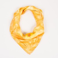Louis Vuitton Yellow Multicolor Silk Transportation Printed Scarf