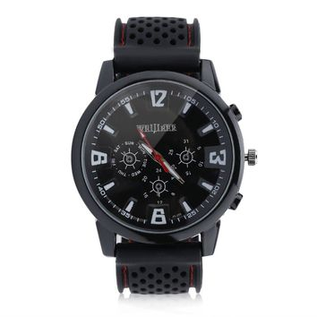 Black Sports Fashion Silicone Military Watch for Men Pilot Army Style Wristwatch Reloj Hombre  New Arrivals Relogio Masculino