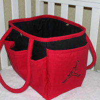 Jordan Themed Multi-Pocket Diaper Bag