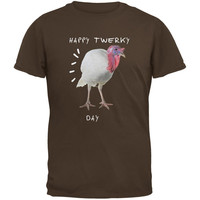 Thanksgiving Twerky Day Brown Adult T-Shirt