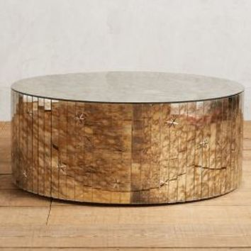 Persica Coffee Table, Round by Anthropologie in Silver Size: Round Coffee Table House & Home