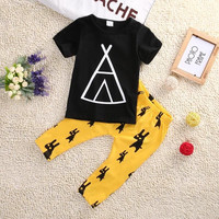 Newborn Infant Baby Boys Kids Clothes T-shirt Tops+Long Pants Outfits Sets 0-5T