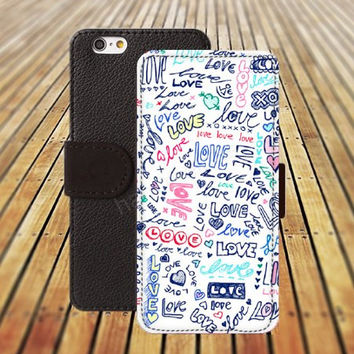 iphone 5 5s case Our star loves colorful iphone 4/4s iPhone 6 6 Plus iphone 5C Wallet Case,iPhone 5 Case,Cover,Cases colorful pattern L252
