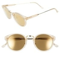 Women's SUPER by RETROSUPERFUTURE 'Panama' 46mm Mirrored Sunglasses - Crystal Matte/ Gold Mirror