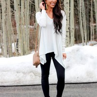 Bella and Bloom Boutique - Long Live Thermal Top: Ivory